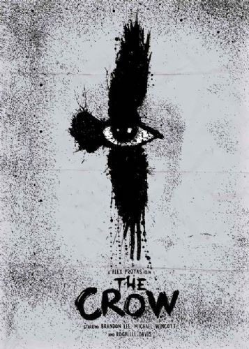 1990's Movie - THE CROW MINIMAL canvas print - self adhesive poster - photo print